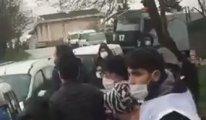Patronun evinin önünde toplanan işçilere müdahale