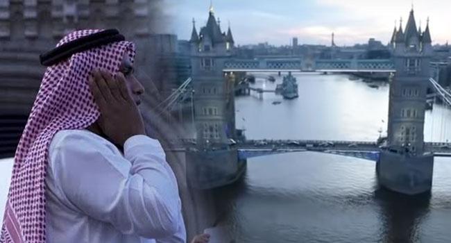 Londra'nın sembol tarihi köprülerinden Tower Bridge'de Ezan-ı Muhammedi yükseldi