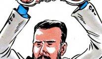 Ünlü karikatürist, gazeteci Mehmet Baransu'yu çizdi