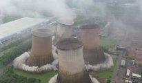 117 metre yüksekliğindeki kuleler 5 saniyede yıkıldı