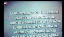 Milli maç yayınında Kanal İstanbul propagandası