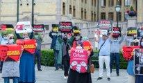 Kırgızistan'da kaçırılan Orhan İnandı için Oslo'da protesto