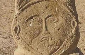 1300 yıllık eski Türk dönemine ait taş heykel bulundu