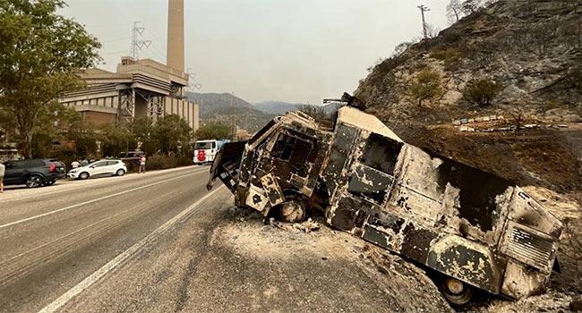 Termik santraldeki yangın söndürüldü