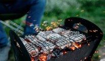 Milli Park'ta piknikçiler mangal, gelin ve damat meşale yaktı