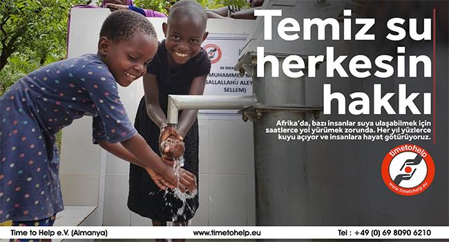Time to Help Afrika'da temiz su kuyusu açıyor