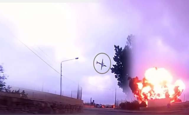 Malta'da düşen uçağın görüntüsü saniye saniye kaydedildi