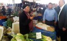 Pazarcı ekonomik krizden dert yanınca Çavuşoğlu dinlemeden uzaklaştı