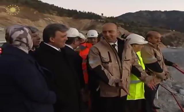Abdullah Gül Koza Altın Madeni'ni ziyaret etti