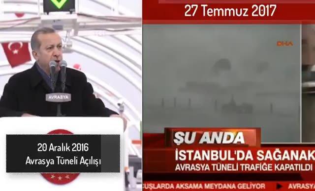 Avrasya Tüneli Erdoğan'ı dinlemedi!