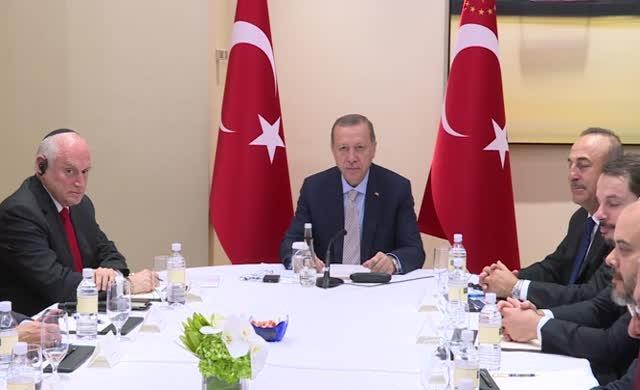 Erdoğan Amerikan Musevi liderlerle görüştü