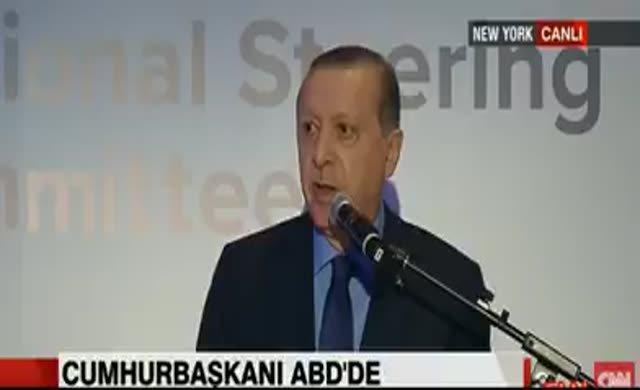 Erdoğan'ın ABD'deki protestoculara tepkisi kameralara yansıdı