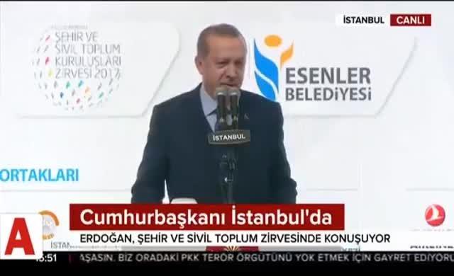 Erdoğan 'ihanet ettik' dedi salon alkışladı!