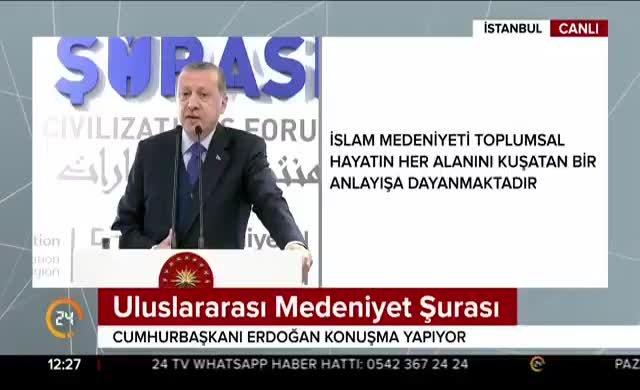 Erdoğan'dan Trump'a: Medeniyeti şekil olarak gören tipolojidir