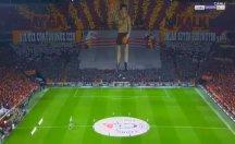 Galatasaray'lı taraftarlardan Rocky koreografisi