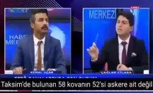'Taksim'de bulunan 58 kovandan 52'si askere ait değil'