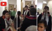 Hakim, duruşma salonunda koşarak Baro Başkanı'na saldırdı