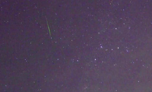 Meteor Yağmuru'ndan muhteşem görüntüler