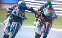 Motosiklet yarışlarında skandal görüntü
