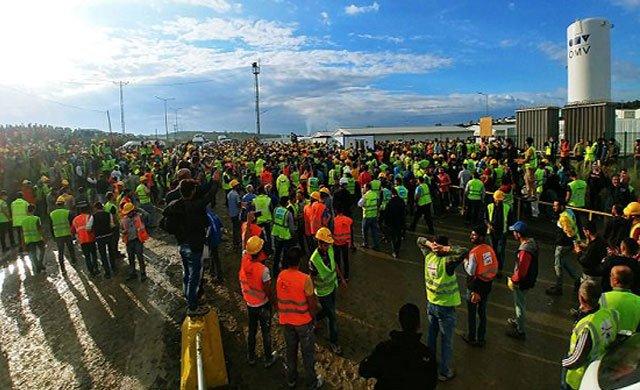 3. Havalimanı inşaatında isyan var... İşçiler büyük eylemde