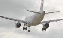 Uçak havada böyle savruldu