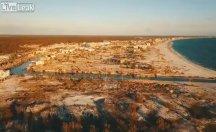 Michael Kasırgası sahili nasıl tahrip etti