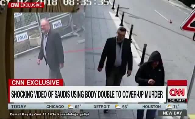 Kaşıkçı'nın kıyafetlerini giyip gezen Suudi'nin görüntüsünü CNN yayınladı