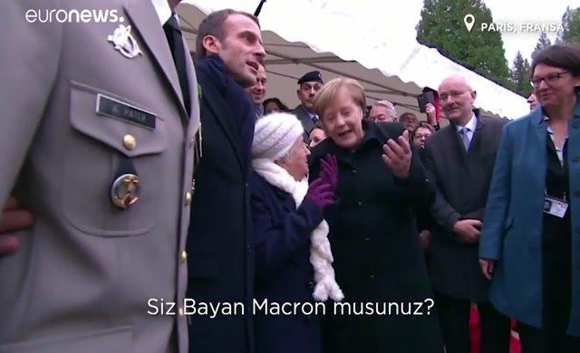 101 yaşındaki kadın Merkel'i tanımadı