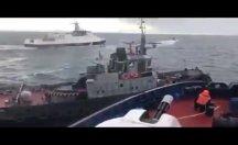 Gerginlik böyle başladı... Rus gemisi Ukrayna gemisine çarptı
