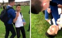 Okulda ırkçı saldırı... Görüntüleri seyredenler bağış yağdırdı