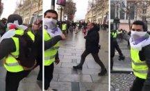 Sarı yelekli Türk'ten TRT'ye: Tayyip de gidecek Macron da gidecek