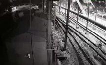 Ankara'daki tren kaza anı görüntüler ortaya çıktı