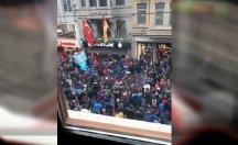 Trabzonsporlular GS Store'a saldırdı