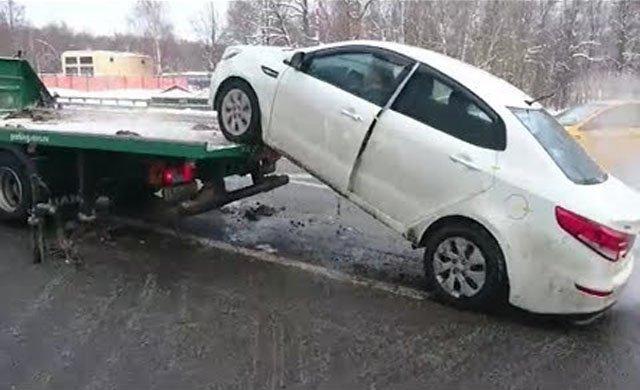 Çekiciyi taksiyle takip etti, aracını böyle indirdi