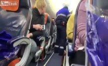 Rusya'da uçak kaçırma girişimi bakın nasıl kaydedildi