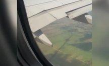 Motoruna kuş kaçan uçak görüntülendi