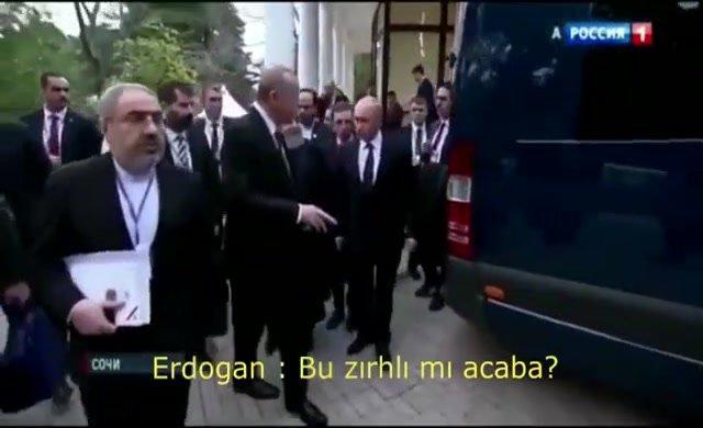 Erdoğan'ın Putin'e 'Bu araç zırhlı mı' sorusu güldürdü