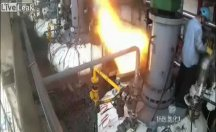 Hidrojen tankı patladı