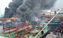 18 balıkçı teknesi cayır cayır yandı