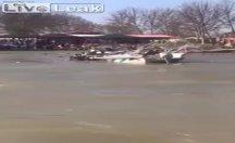 Dicle Nehri'ndeki feribot faciası kamerada