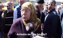 Yaşlı teyzeden Erdoğan'a