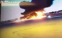 Uçak bir anda yere çakıldı