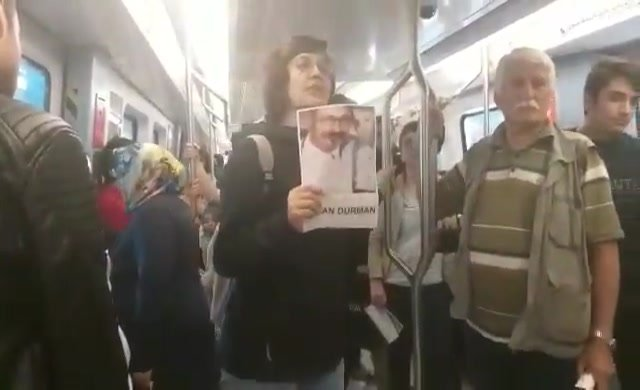 Ankara metrosunda KHK protestosu