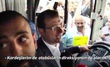 İmamoğlu, İstanbul'un meşhur otobüs hattında direksiyona geçti