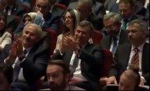 Feyzioğlu Erdoğan'ı alkışlarken adeta kendinden geçti