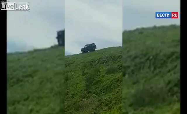 Arazi aracı tepeden yuvarlandı