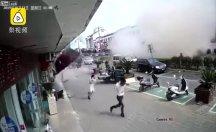 Gaz sıkışması ortalığı savaş alanına çevirdi
