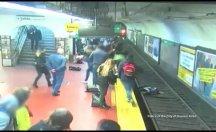 Metroda facia son anda atlatıldı
