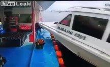 Gemide adama başka bir gemi çarptı...