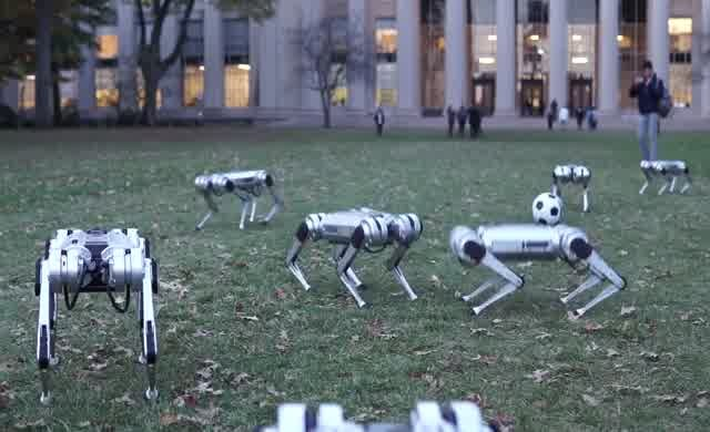 Robotlar futbol oynadı
